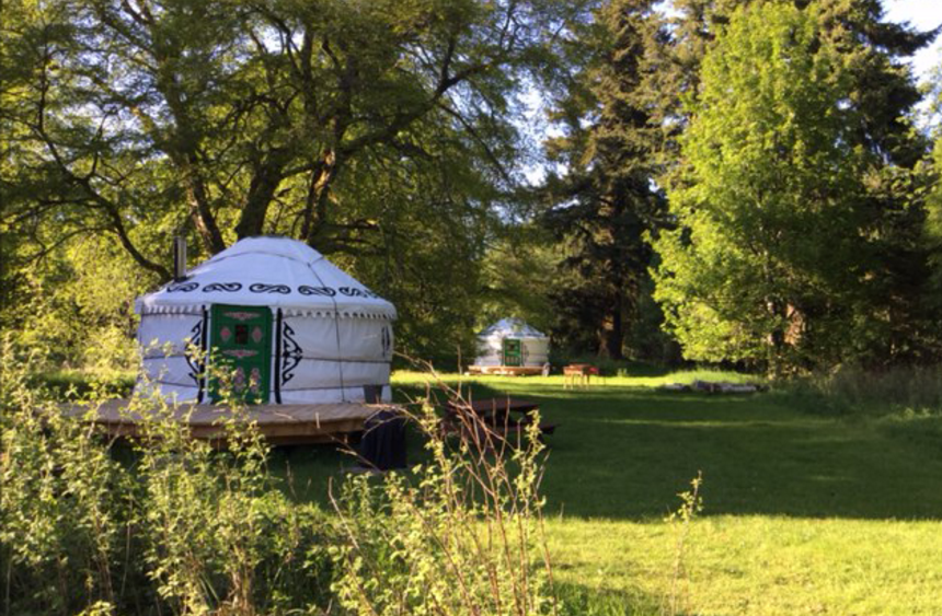 Bamff luxury yurts